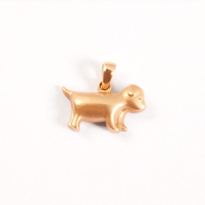 IRIS 18K Pink Gold 'Dog' Pendant