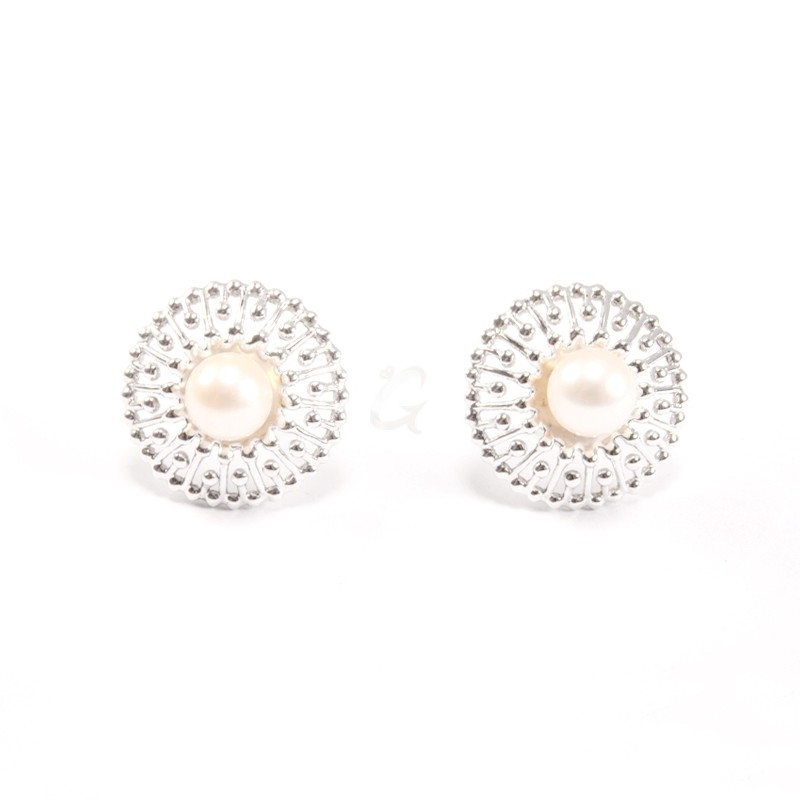 IRIS 18K White Gold Earring with Pearl