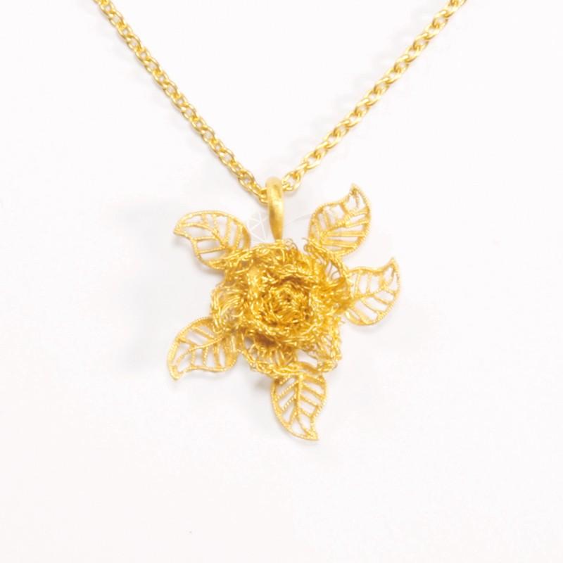 Goldlery 24K Gold 'Creation' Pendant
