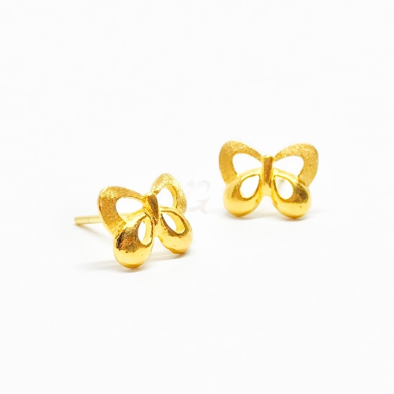 Goldlery 24K Gold 'Little Sweet' L049 Earring