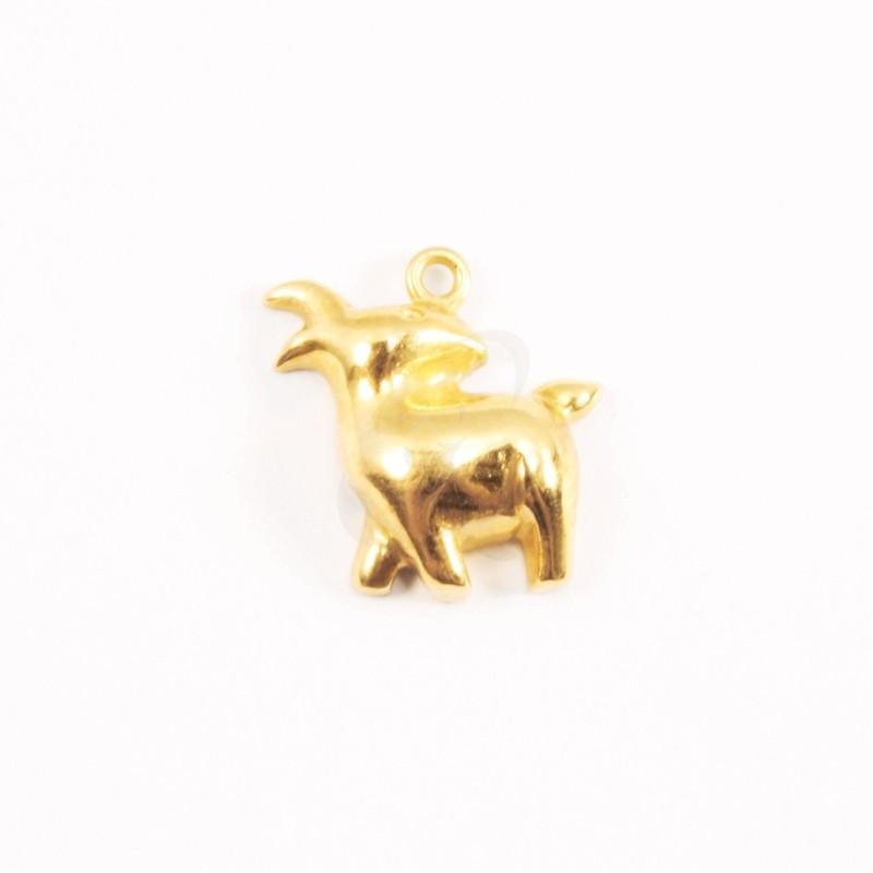 IRIS 18K Yellow Gold 'Goat' Pendant