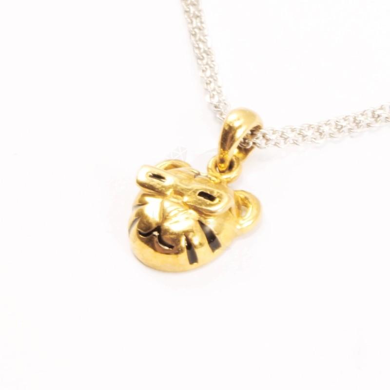 IRIS 18K Yellow Gold 'Tiger' Pendant