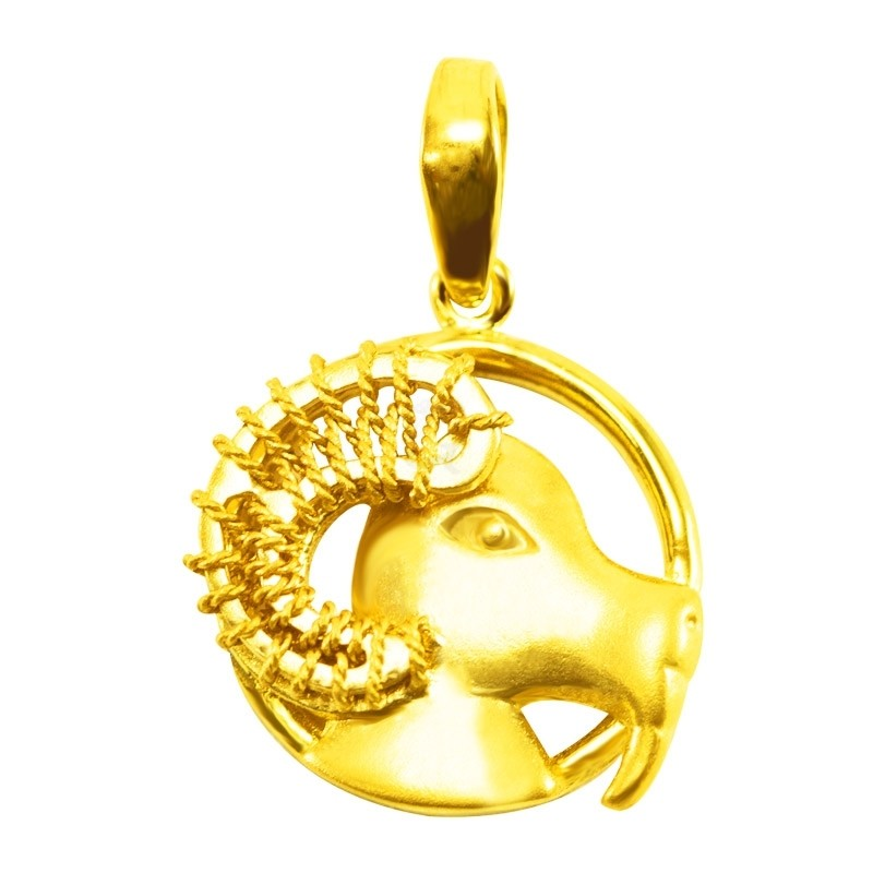 "Goldlery 24K Gold ""Zodiac"" Goat Pendant"
